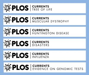 The six strands of PLOS Currents.