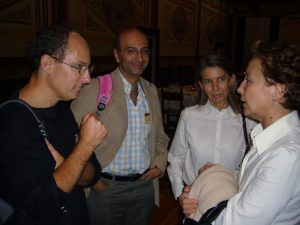 Joe Heitman, Luis Corrochano, Marga Orejas, and Rosa Ruiz-Vazquez at the centenary celebration of Max Delbruck, held in Salamanca, Spain Oct 9-10, 2006.