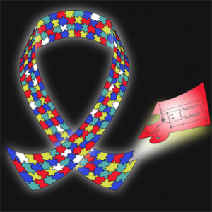 March issue image: the autism awareness ribbon. Image credit: Howsmon et al.